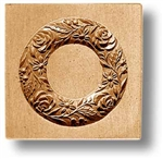 Flower Wreath With Four Roses Springerle Cookie Mold