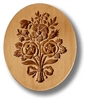 Bouquet Of Flowers Oval Springerle Cookie Mold