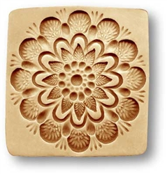Flower Pattern Springerle Cookie Mold