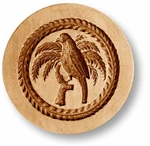 Parrot In A Palm Tree Springerle Cookie Mold
