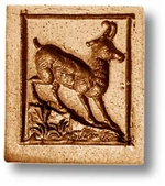 Antelope In Rectangle Springerle Cookie Mold