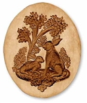 Two Rabbits In Oval Springerle Cookie Mold