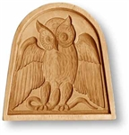 Owl In A Bow Window Springerle Cookie Mold