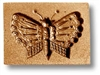 Butterfly Simple Springerle Cookie Mold