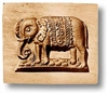 Indian Elephant Springerle Cookie Mold