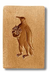 Penguin With Flower Bouquet Springerle Cookie Mold