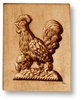 Proud Rooster Springerle Cookie Mold