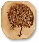 Strutting Peacock Springerle Cookie Mold