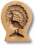 Small Peacock Springerle Cookie Mold