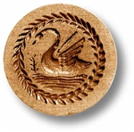 Swan With Leaf Border Springerle Cookie Mold