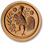 Large Rooster Springerle Cookie Mold