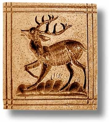 Deer With Dashed Border Springerle Cookie Mold