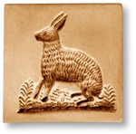 Rabbit In Rectangle  Springerle Cookie Mold