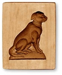 Sitting Dog Springerle Cookie Mold