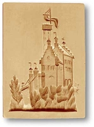Lichtenstein Castle Springerle Cookie Mold
