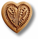 Heart With Lilies Of The Valley Springerle Cookie Mold