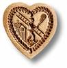Heart With Chimney Sweep Springerle Cookie Mold