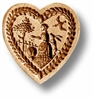 Heart With Farm Girl Springerle Cookie Mold