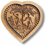 Heart With Adam And Eve Springerle Cookie Mold