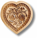 Heart With Two Birds Springerle Cookie Mold