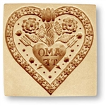 """Amo te"" I Love You springerle cookie mold"