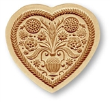Heart With Tree of Life Springerle Cookie Mold