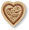Heart with Bird Family Springerle Cookie Mold