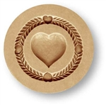 Simple Heart Springerle Cookie Mold