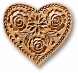 Lotus Heart Springerle Cookie Mold