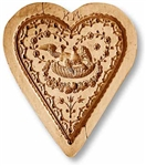 Heart With Love Doves Springerle Cookie Mold