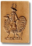 Man Riding Rooster Springerle Cookie Mold