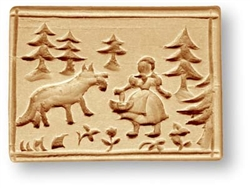 Little Red Riding Hood And The Wolf Springele Cookie Mold