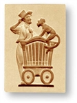 Organ Grinder Springerle Cookie Mold