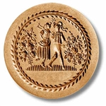Dancing Couple In Round With Leaf Border Springerle Cookie Mold