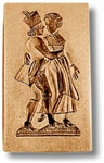 Dancing Couple Circa 1800 Springerle Cookie Mold