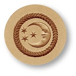 Moon with Three Stars springerle cookie mold, dia 56 mm / 2.2 in