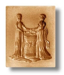 Two Women Springerle Cookie Mold