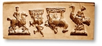 4 Pictures - Rider On A Horse Donkey Camel & Ostritch Springerle Cookie Mold