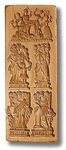 5 Pictures - Schorndorfer Women 1688 And 4 Virtues. Springerle Cookie Mold