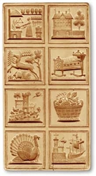 8 Pictures - Kitchen House Springerle Cookie Mold
