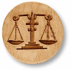 zodiac libra scales of justice cookie mold