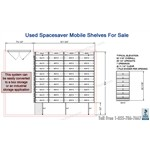 Used Spacesaver Mobile Storage Shelves #36555-FIL-(AD) Great Solution for Box Storage or Industrial Storage