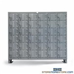 Welded Box Lockers Small Compartment Storage Cabinet 6-High Heavy-Duty Industrial, Strong Hold Locker, 7.56-36D-180