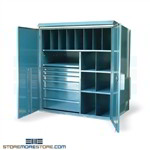 Outdoor Cabinet with Drawers Shelves Weatherproof Storage Locking Gasketed Doors