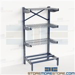 Cantilever Tubing Storage Rack Horizontal Pipe Round Stock Angled Arms Nexel