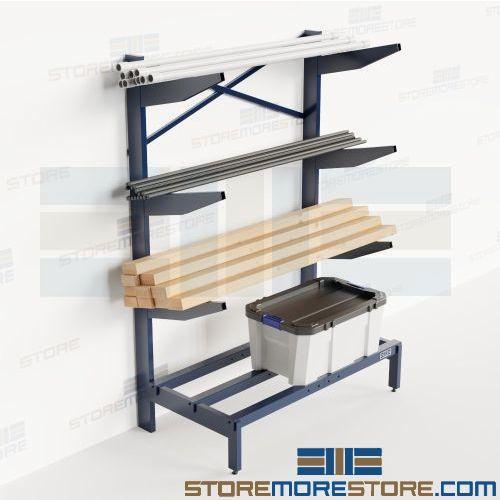 Bar Stock Storage Rack Pipe Pvc Tubing Horizontal Shelves