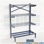 Industrial Cantilever Shelves Storing Copper Pipe Horizontal Storage Rack Nexel