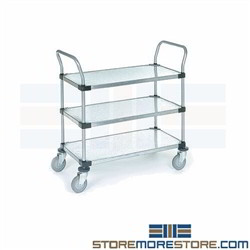 Steel Galvanized Shelf Carts NSF Nexel Mobile Rolling Hospital Lab Storage