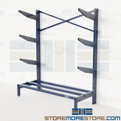 Horizontal Pipe Storage Rack Cantilever Arms Bar Stock