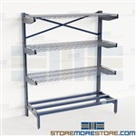 Horizontal Lumber Racks Bar Stock Storage Pipe Wire Shelves Cantilever Nexel